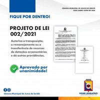 PROJETO DE LEI N. 002/2021
