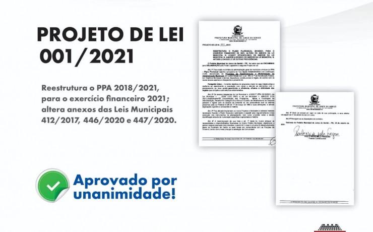 PROJETO DE LEI N. 001/2021